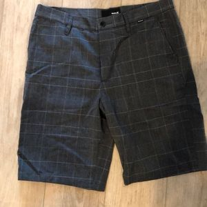 Hurley plaid shorts